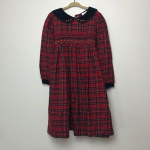 Rare Editions l Red Plaid Smocked Dress Christmas